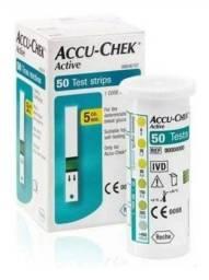 Fita de glicose ACCU-CHEK,50 tiras,val:10/22 aceito cartão