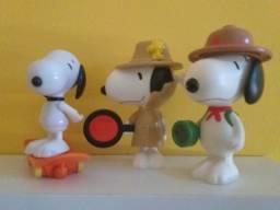 Lote com 3 bonecos Snoopy