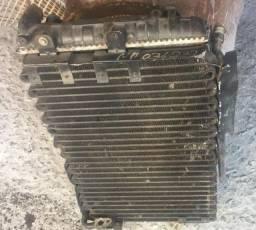 Conjunto radiador, condensador, ventoinha gol G3 com ar condicionado