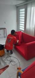 Lavagem a seco higienização do seu sofá