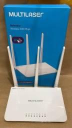 Roteador Wireless 300Mbps 3 Antenas 2,4Ghz 4 Portas Multilaser RE163V
