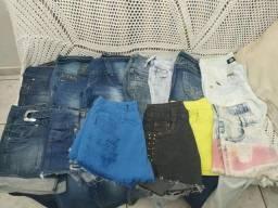 Calças e shorts jeans 5,00 cada