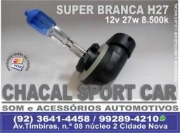 Lâmpadas Super Branca H27 12V 27W 8500K (produtos novos e com nota fiscal)