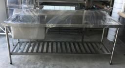Pia Nova embalada em Aço Inox AISI 304 - Produto Novo reforçado