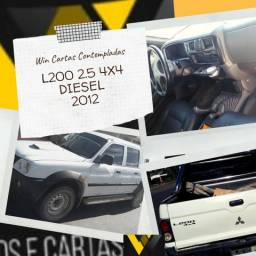 L200 Caminhonet/Aberta/C.Dupla Diesel 2.5 4x4 11/12 Não Consultamos Score - 2012