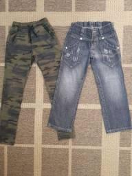 Calças, camufladas, jeans, crianças, moda, novíssimas, lote, infantil, roupas