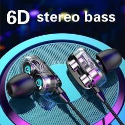 Fone De Ouvido Stereo Com Fio Bass 6D