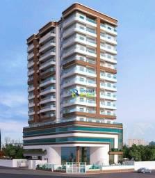 Apartamento com 2 dormitórios à venda, 73 m² por R$ 408.459 - Guilhermina - Praia Grande/S
