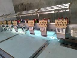 Máquina de borda 8 cabeças