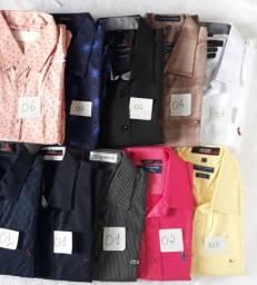 Camisas social manga comprida 01 ao 06 tamanhos
