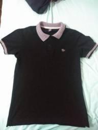 Camisa gola polo preta