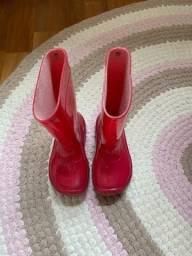 Galocha rosa, tamanho 23