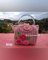 Bolsa de mão em crochê
