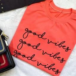 T shirt good vibes