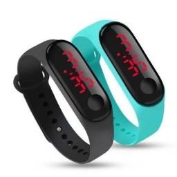 Relógio pulseira digital led (entrego )