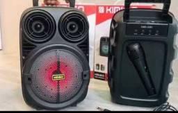Caixa de som 1200 w pmpo serie 338 com Bluetooth e microfone