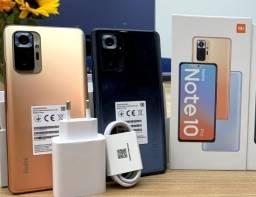 Note 10 Pro Preto/Dourado 6+128Gb 64MP Câmera