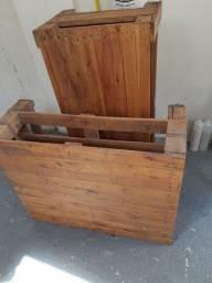 Rack e mesa de centro de Pallets