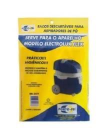 Saco Descartável Para Aspirador De Pó Electrolux Flex C/ 3un Ref:2177