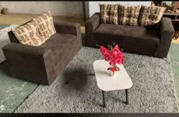 Conjunto de sofá com almofadas R$699,00