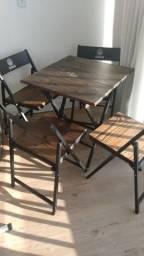 Conjunto de Mesa madeira