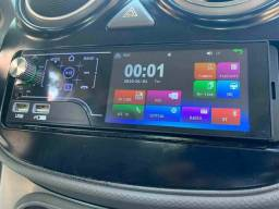Rádio automotivo MP5 Bluetooth touch screen e comandos de volante