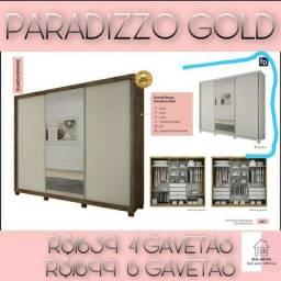 Guarda roupa Gold/Guarda roupa Gold/Guarda roupa Paradizzo Gold