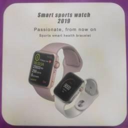 Relógio Inteligente Smart Sports Watch 2019 44mm Rosa