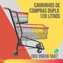 Carrinho Premium 120 Litros Duplo