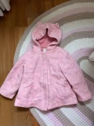 Casaco zara, tamanho 3 anos, rosa com capuz !