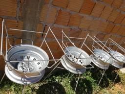Churrasqueira top de roda desmontável  últimas unidades