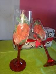 Taça de vidro personalizado para champanhe