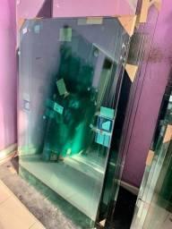 Guarda-corpo verde 9 metros - vidros temperados novos