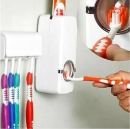 Porta escova Dispenser Pasta De Dente Com Suporte De Escovas