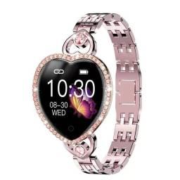 Smartwatch Luxo Relógio inteligente Formato de Coração