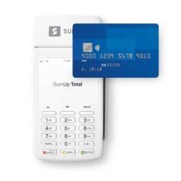 Máquina da Sumup de cartão de crédito e débito.