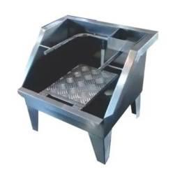 Lavador de botas para frigoríficos & Cia em inox 304