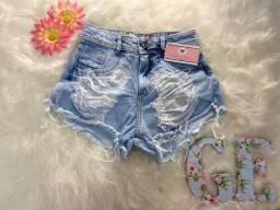 Short jeans rasgadinho, TAM 38, apenas 40 reais