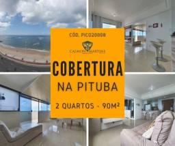 Cobertura na Pituba, 2 quartos com 1 suíte 90m², Vista Mar