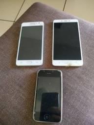 Vendo 3 celulares pra retirada de peças!!