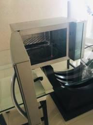 Forno microondas Electrolux blue touch espelhado com grill
