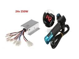 Controlador E Acelerador Para Scooter Elétrico/bic 24v 250w
