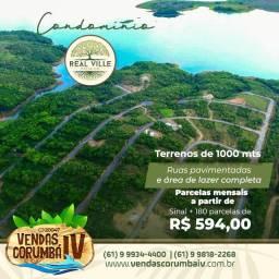 Lotes no Condomínio Real Ville Premium , Asfalto e área de lazer no Lago Corumbá IV