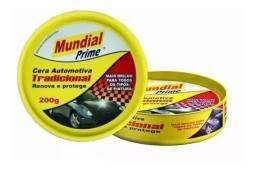 R$15,00 - Cera Limpadora Prime Com Silicone Automotiva Mundial 200g
