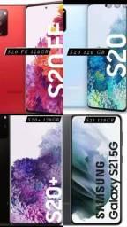 Samsung S20 FE, S20, S20+ e S21 (Novos, lacrados, com nota e garantia)