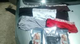 Cuecas Calvin Klein tamanhos M e G 8 peças por 50 reais