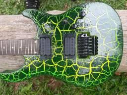 Guitarra Vulcan Tagima Pintura Personalizada e Ponte Ibanez Edge III
