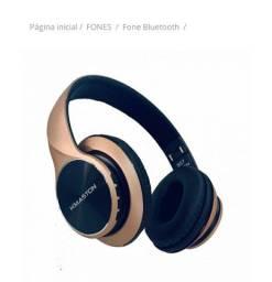 Fone headphone Bluetooth com entrada p2 wifi sound H'maston B16<br><br>