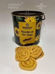 Lata com Biscoito Medalhão de Queijo - 160 g | Biscoitos Mineirisse