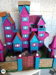 Casas enfeitadas para decorações de festas